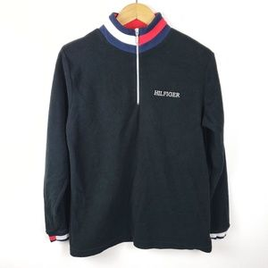 Tommy Hilfiger | Navy Fleece Popover Sweater Small